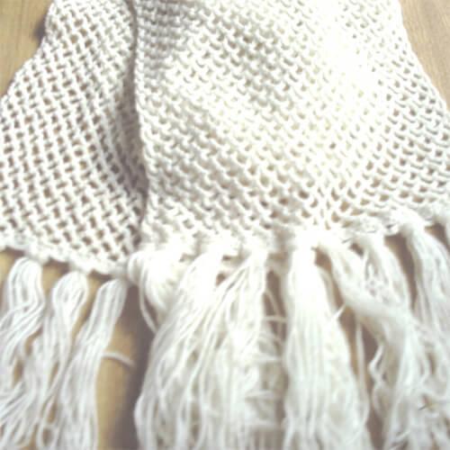 tipos de linha crochê algodão exemplo cachecol