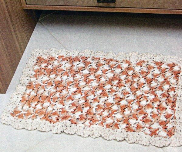 Receita Tapete Delicat Crochê